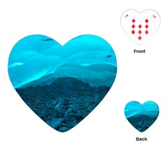 Mendenhall Ice Caves 1 Playing Cards (heart)  by trendistuff