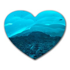 Mendenhall Ice Caves 1 Heart Mousepads by trendistuff