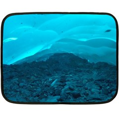Mendenhall Ice Caves 1 Double Sided Fleece Blanket (mini)  by trendistuff