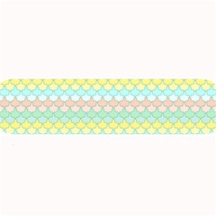 Scallop Repeat Pattern In Miami Pastel Aqua, Pink, Mint And Lemon Large Bar Mats by PaperandFrill