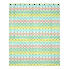 Scallop Repeat Pattern In Miami Pastel Aqua, Pink, Mint And Lemon Shower Curtain 60  X 72  (medium)  by PaperandFrill