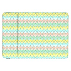 Scallop Repeat Pattern In Miami Pastel Aqua, Pink, Mint And Lemon Samsung Galaxy Tab 8 9  P7300 Flip Case by PaperandFrill