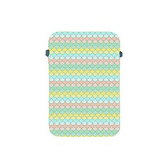 Scallop Repeat Pattern In Miami Pastel Aqua, Pink, Mint And Lemon Apple Ipad Mini Protective Soft Cases by PaperandFrill