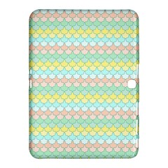 Scallop Repeat Pattern In Miami Pastel Aqua, Pink, Mint And Lemon Samsung Galaxy Tab 4 (10 1 ) Hardshell Case  by PaperandFrill