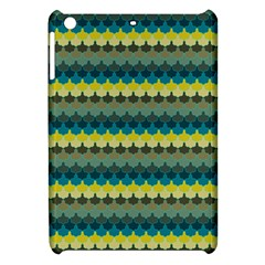 Scallop Pattern Repeat In  new York  Teal, Mustard, Grey And Moss Apple Ipad Mini Hardshell Case by PaperandFrill