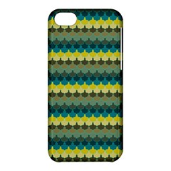 Scallop Pattern Repeat In  new York  Teal, Mustard, Grey And Moss Apple Iphone 5c Hardshell Case by PaperandFrill
