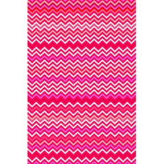 Valentine Pink And Red Wavy Chevron Zigzag Pattern 5 5  X 8 5  Notebooks by PaperandFrill