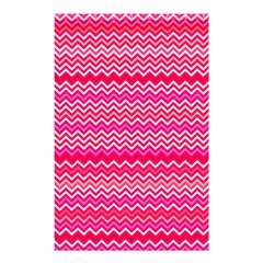 Valentine Pink And Red Wavy Chevron Zigzag Pattern Shower Curtain 48  X 72  (small)  by PaperandFrill