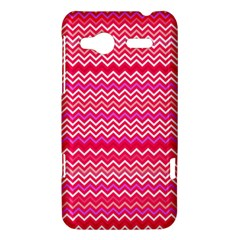 Valentine Pink and Red Wavy Chevron ZigZag Pattern HTC Radar Hardshell Case  by PaperandFrill