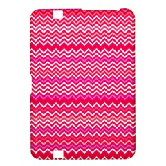 Valentine Pink And Red Wavy Chevron Zigzag Pattern Kindle Fire Hd 8 9  by PaperandFrill