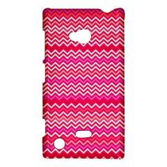 Valentine Pink And Red Wavy Chevron Zigzag Pattern Nokia Lumia 720 by PaperandFrill
