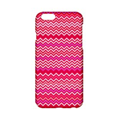 Valentine Pink And Red Wavy Chevron Zigzag Pattern Apple Iphone 6/6s Hardshell Case by PaperandFrill