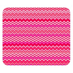 Valentine Pink And Red Wavy Chevron Zigzag Pattern Double Sided Flano Blanket (small)  by PaperandFrill
