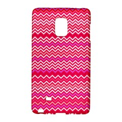 Valentine Pink and Red Wavy Chevron ZigZag Pattern Galaxy Note Edge by PaperandFrill