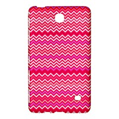 Valentine Pink And Red Wavy Chevron Zigzag Pattern Samsung Galaxy Tab 4 (8 ) Hardshell Case  by PaperandFrill