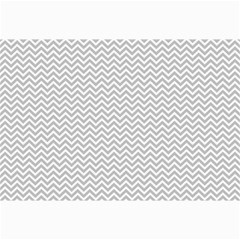 Silver And White Chevrons Wavy Zigzag Stripes Collage 12  X 18  by PaperandFrill