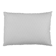 Silver and White Chevrons Wavy ZigZag Stripes Pillow Cases by PaperandFrill