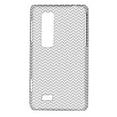 Silver and White Chevrons Wavy ZigZag Stripes LG Optimus Thrill 4G P925 by PaperandFrill
