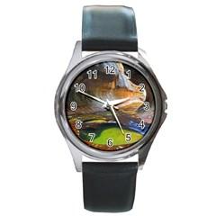 Left Fork Creek Round Metal Watches by trendistuff