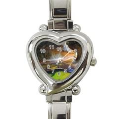Left Fork Creek Heart Italian Charm Watch by trendistuff