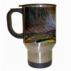 Left Fork Creek Travel Mugs (white) by trendistuff