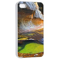 Left Fork Creek Apple Iphone 4/4s Seamless Case (white) by trendistuff