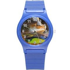 Left Fork Creek Round Plastic Sport Watch (s) by trendistuff