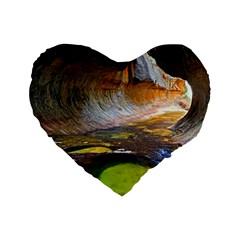 Left Fork Creek Standard 16  Premium Heart Shape Cushions by trendistuff