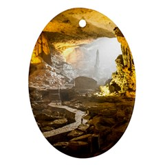 Ha Long Bay Oval Ornament (two Sides) by trendistuff