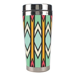 Rhombus And Arrows Pattern Stainless Steel Travel Tumbler by LalyLauraFLM