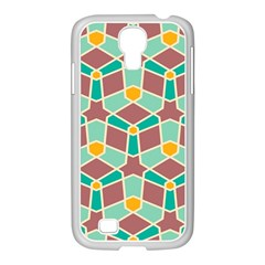 Stars And Other Shapes Pattern			samsung Galaxy S4 I9500/ I9505 Case (white) by LalyLauraFLM