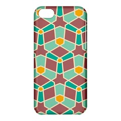 Stars And Other Shapes Patternapple Iphone 5c Hardshell Case by LalyLauraFLM