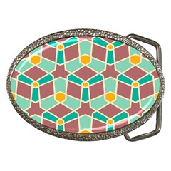 Stars And Other Shapes Patternbelt Buckle by LalyLauraFLM
