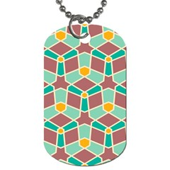 Stars And Other Shapes Patterndog Tag (one Side) by LalyLauraFLM
