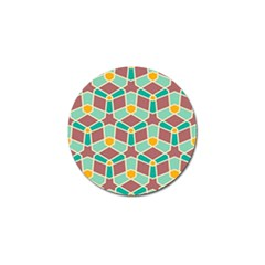 Stars And Other Shapes Patterngolf Ball Marker (4 Pack) by LalyLauraFLM
