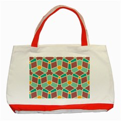 Stars And Other Shapes Patternclassic Tote Bag (red) by LalyLauraFLM