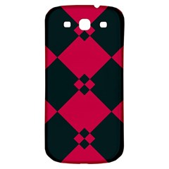 Black Pink Shapes Pattern			samsung Galaxy S3 S Iii Classic Hardshell Back Case by LalyLauraFLM