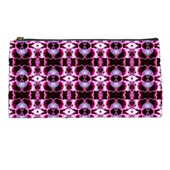 Purple White Flower Abstract Pattern Pencil Cases by Costasonlineshop