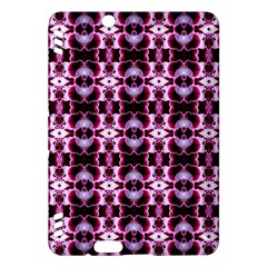 Purple White Flower Abstract Pattern Kindle Fire Hdx Hardshell Case by Costasonlineshop