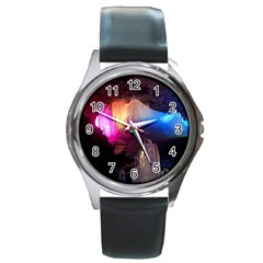 Cave In Iceland Round Metal Watches by trendistuff
