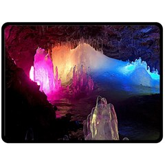 Cave In Iceland Double Sided Fleece Blanket (large)  by trendistuff
