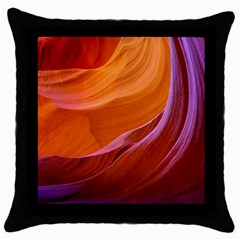 Antelope Canyon 2m Throw Pillow Cases (black) by trendistuff