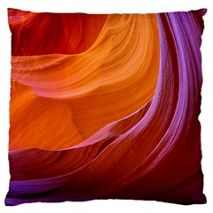 Antelope Canyon 2m Large Flano Cushion Cases (two Sides)  by trendistuff