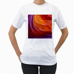 Antelope Canyon 2 Women s T Shirt (white) (two Sided) by trendistuff