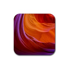 Antelope Canyon 2 Rubber Square Coaster (4 Pack)  by trendistuff