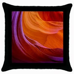 Antelope Canyon 2 Throw Pillow Cases (black) by trendistuff