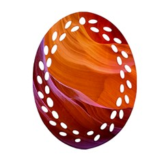 Antelope Canyon 2 Oval Filigree Ornament (2 Side)  by trendistuff