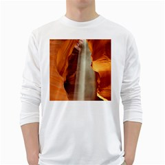 Antelope Canyon 1 White Long Sleeve T Shirts by trendistuff