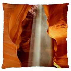 Antelope Canyon 1 Large Flano Cushion Cases (one Side)  by trendistuff