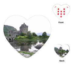 Scotland Eilean Donan Playing Cards (heart)  by trendistuff
